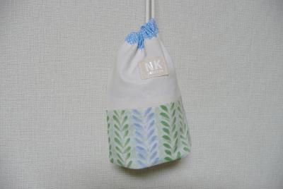 裏地&折マチ付きコップ袋(巾着袋)の作り方
