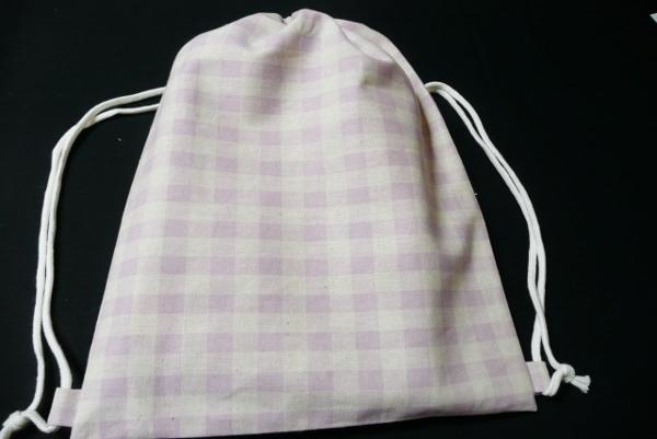 オックス布で体操着袋(リュック型巾着)の作り方